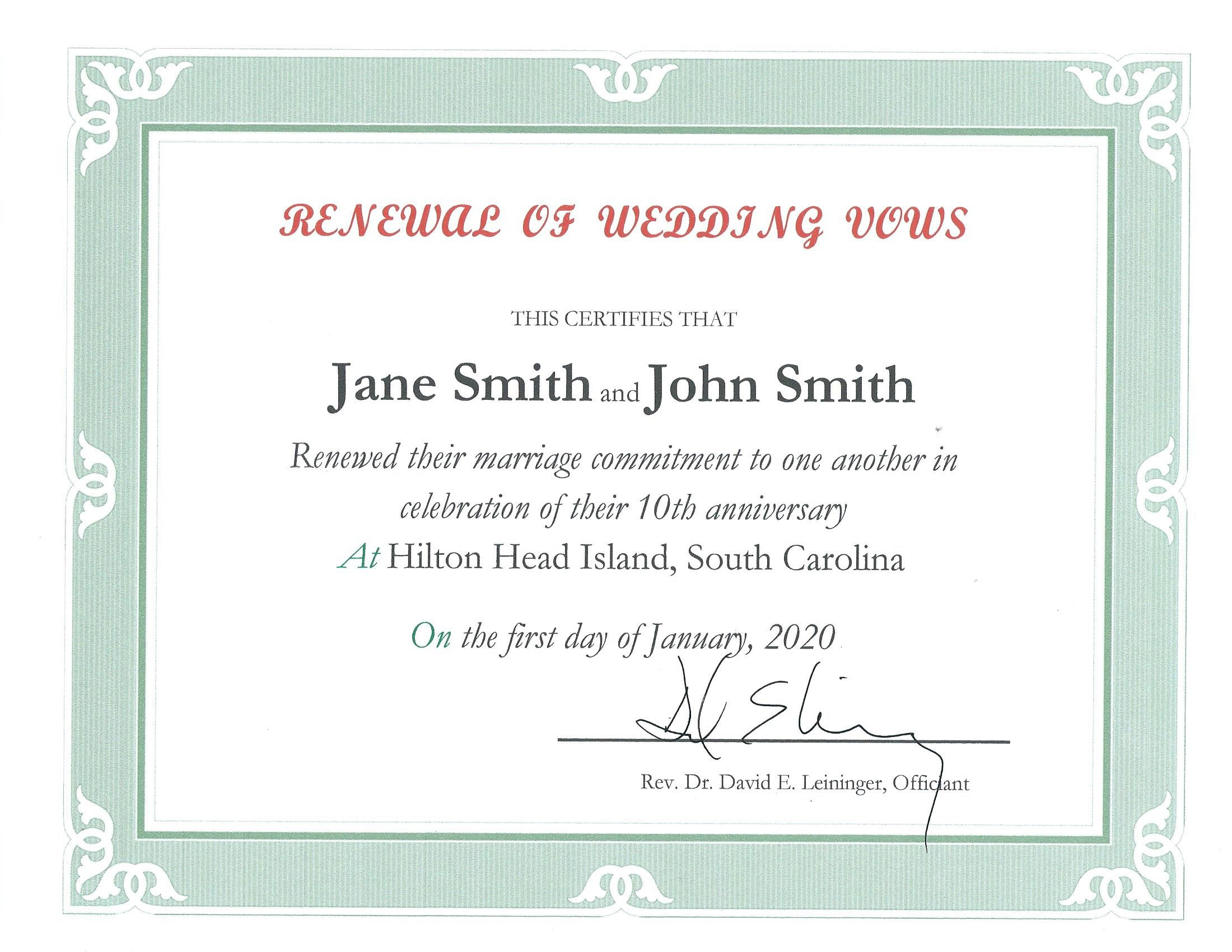 Renewal of Wedding Vows in Hilton Head SC | A Wedding in Paradise