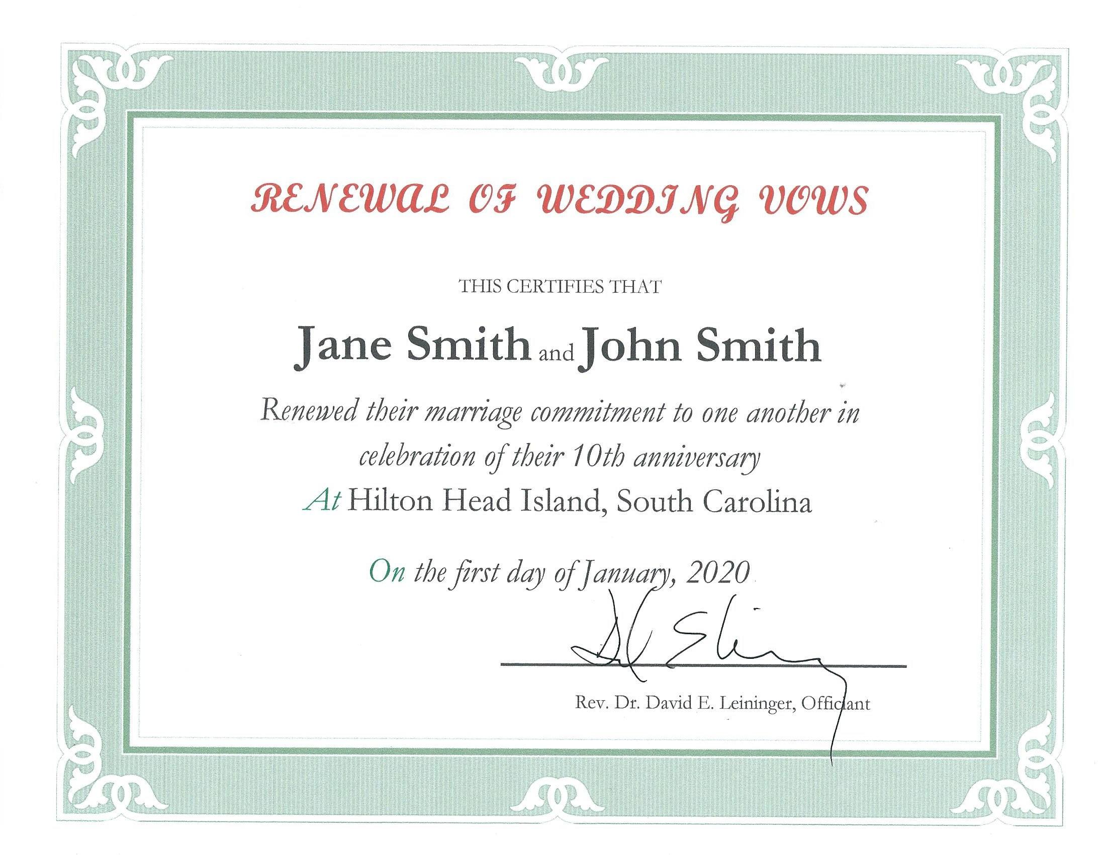 Renewal of Wedding Vows in Hilton Head SC | A Wedding in ...